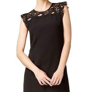 MAISON JULES Lace Trim Shift Dress